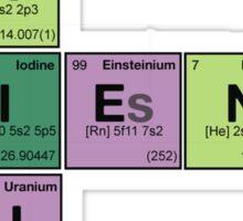SCIENCE GENIUS! Periodic Table Scrabble Sticker