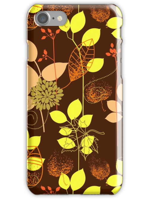 Foliage Copper & Bronze [iPhone / iPod Case and Print] by Damienne Bingham