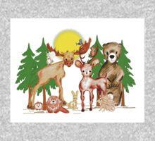 Woodland Animals One Piece - Long Sleeve