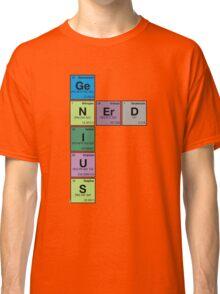 GENIUS NERD! Periodic Table Scrabble Classic T-Shirt
