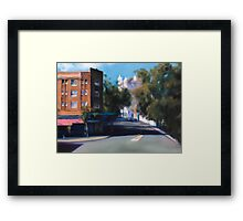 Village shops Framed Print