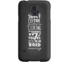 The Gentlemen's Song Samsung Galaxy Case/Skin