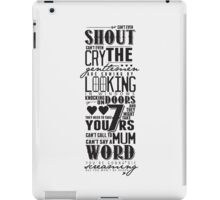 The Gentlemen's Song (On White) iPad Case/Skin