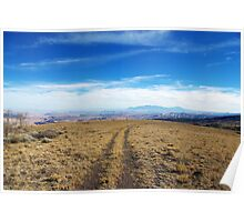 High mountain trail with a view, Utah Poster