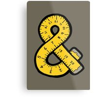 Ampersand Measuring Tape Metal Print