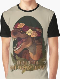 Dinosaur Eats Man Graphic T-Shirt