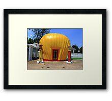 Shell Shaped Gas Station Framed Print