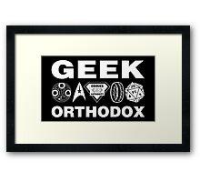 Geek Orthodox Framed Print