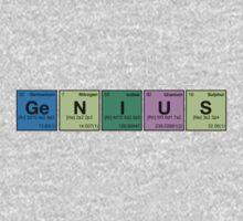 GENIUS! Periodic Table Scrabble One Piece - Long Sleeve
