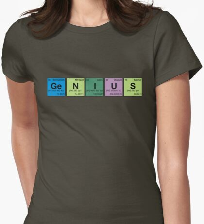GENIUS! Periodic Table Scrabble Womens Fitted T-Shirt