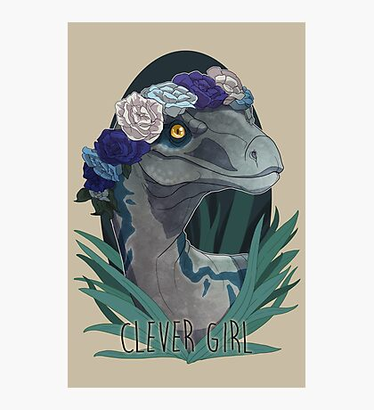 Clever Girl - Blue Photographic Print