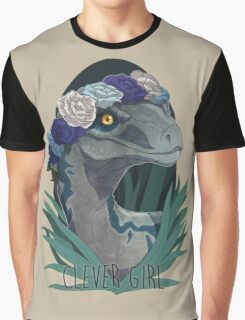 Clever Girl - Blue Graphic T-Shirt