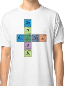 GIRL GENIUS! Periodic Table Scrabble Classic T-Shirt