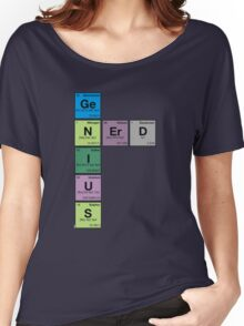 GENIUS NERD! Periodic Table Scrabble Women's Relaxed Fit T-Shirt