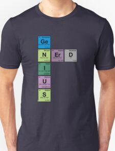 GENIUS NERD! Periodic Table Scrabble T-Shirt