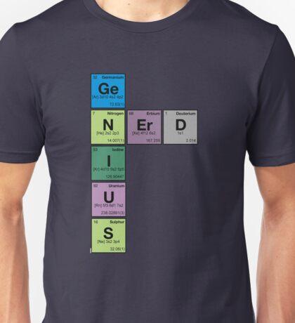 GENIUS NERD! Periodic Table Scrabble Unisex T-Shirt