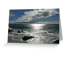 Silvery Swirlaway: East Coast Beaches, Tasmania, Australia Greeting Card