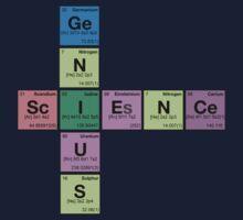 SCIENCE GENIUS! Periodic Elements Scrabble One Piece - Short Sleeve