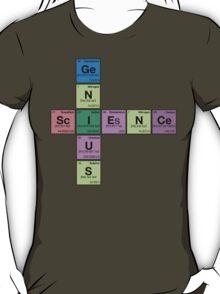 SCIENCE GENIUS! Periodic Elements Scrabble T-Shirt
