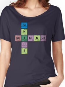 SCIENCE GENIUS! Periodic Elements Scrabble Women's Relaxed Fit T-Shirt