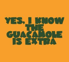Yes, I know the guacamole is extra by digerati