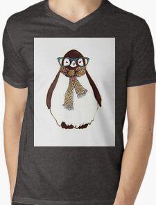 cute fluffy penguin Mens V-Neck T-Shirt