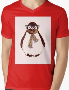 cute fluffy penguin Mens V-Neck T-Shirt