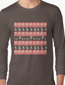 Mary Christmas Sweater Print Long Sleeve T-Shirt