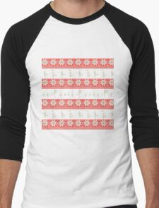 Mary Christmas Sweater Print Men's Baseball ¾ T-Shirt