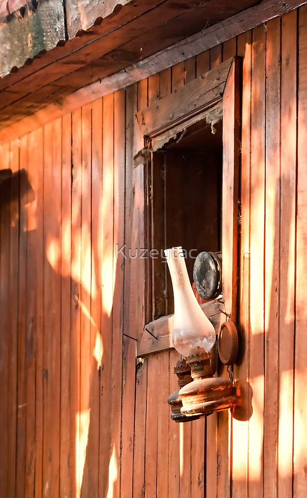 Vintage Kerosene Gas Lamp  by Kuzeytac