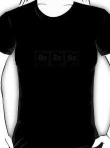 Ba Zn Ga! Periodic Table Scrabble [blackblack iteration] T-Shirt