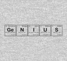 GENIUS! Periodic Table Scrabble [monotone] Kids Tee