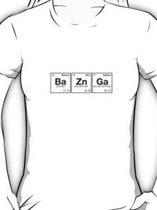 Ba Zn Ga! Periodic Table Scrabble [monotone] T-Shirt