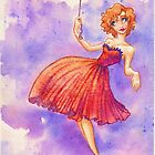 Retro Balloon Girl by Beth Aucoin