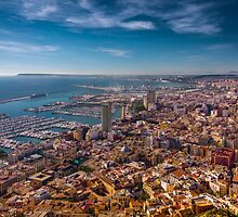 Alicante from above - best viewed large by Ralph Goldsmith