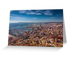Alicante from above - best viewed large Greeting Card
