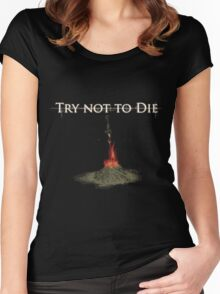 Try not Die Women's Fitted Scoop T-Shirt