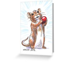 Holiday Critters - Mouse Greeting Card