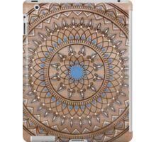 Hand Drawn Brown And Blue Mandala iPad Case/Skin