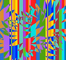 Tropical Burst Abstract by Darlene Lankford Honeycutt