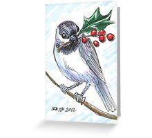 Holiday Critters - Chickadee Greeting Card