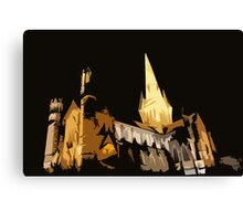Comic Book Cathedral Canvas Print