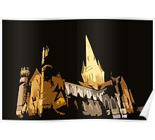 Comic Book Cathedral Poster