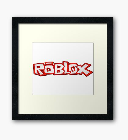 Roblox Title Framed Print