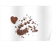 chocolate heart Poster
