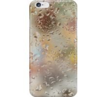 Colorful water droplets on a window iPhone Case/Skin