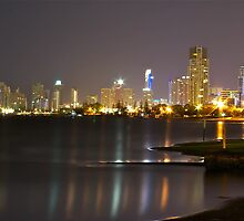Surfers Nightscape by ashercobb