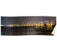 Surfers Nightscape Poster