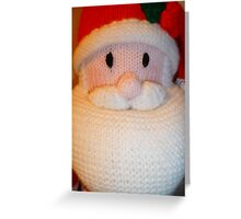 Hand Knitted Father Christmas Greeting Card