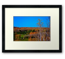 Duluth Golf in Autumn  Framed Print